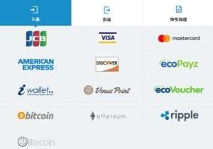オンラインカジノ支払い方法