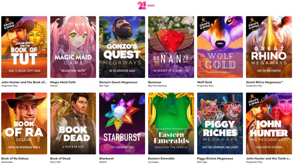 21comカジノジャパンのさまざまなゲームを活用して、すべてをお楽しみください